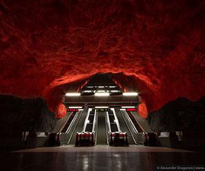 Stockholm Metro by Alexander Dragunov