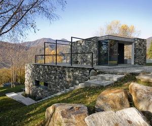 Stone villa hidden in the terrain