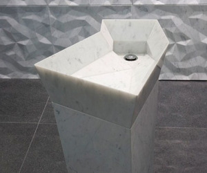 Stone washbasin Dune by Lithea