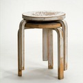 Stool 60 (Alvar Aalto design) selected by Cini Boeri