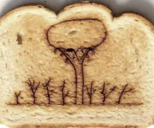 Stop Motion Laser Burnt Toast Music Video