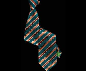 Striped Jade Green Tie