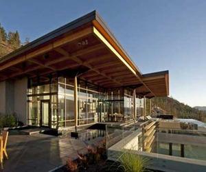 Contemporary Home on Okanagan Lake by David Tryrell