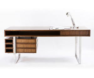 Stunning Walnut & Maple Desk