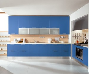 Stylish Contemporary Blue Kitchen Design