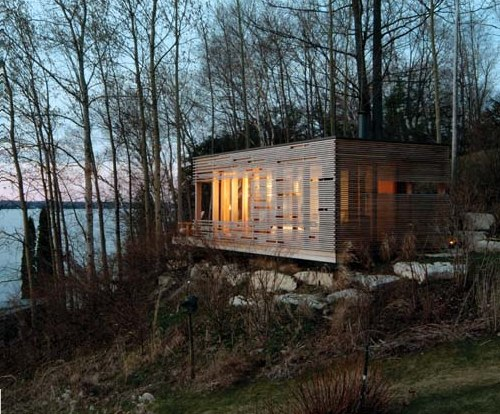 Sunset cabin in canada by taylor smyth architects for Log cabin furniture canada