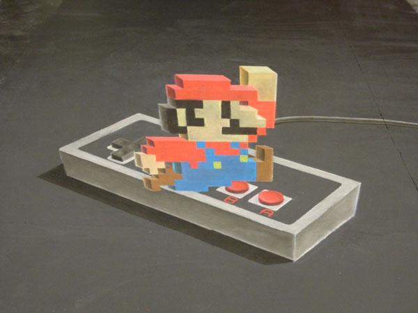 Super Mario 3d Chalk Art Time Lapse Video