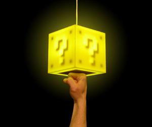 Super Mario Bros. 8-Bit Question Block Lamp