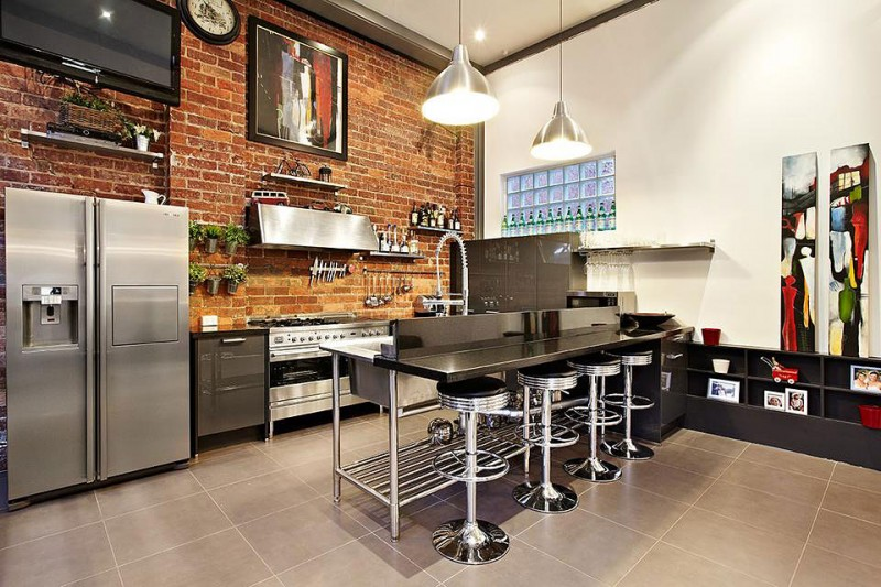 Kitchen Sink Warehouse : Abbotsford, Superb Brick Warehouse Conversion in Melbourne