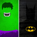 Superhero Minimalist Posters by Calvin Lin