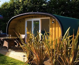 The Atlantic Surf Pods Camp Site in the UK