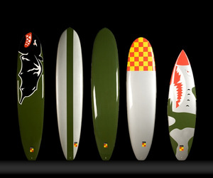 Surfboards Inspired By WWII Fighter Planes