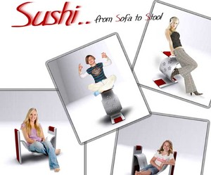Sushi – Ergonomic Furniture from Sofa to Stool