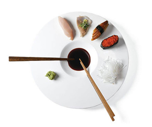 Sushi Time: A Plate Specially Made for Sushi