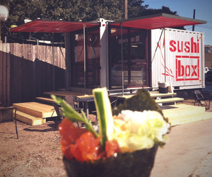 sushiBOX food trailer in reclaimed shipping container