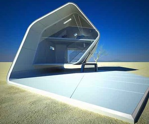 Sustainable Prefab California Roll House for Desert