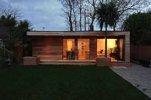 Sustainable prefab garden home by for Prefab garden house