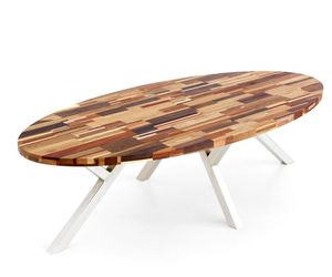 Sustainable Table from Upcycled Waste Wood
