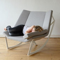 Sway Rocking Chair with Padded Seat