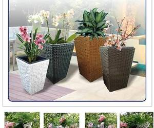 Sweetgrass Faux Rattan Planters