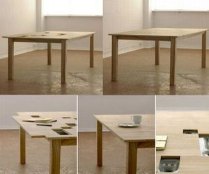 TAB office desk cum dining table with hidden compartments