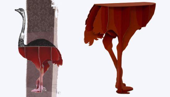 Table Design Ideas Camel Bird Wings By Ibride