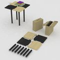 """Table in Box"" by Batia Design"