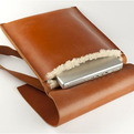 Tan Leather Laptop bag  | by De Bruir