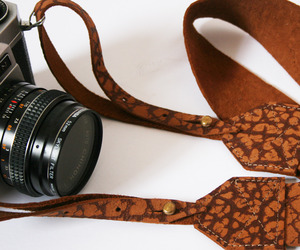 Tarzan Print Leather Camera Strap