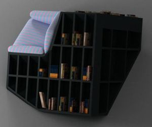 Tati Chair with Book Shelves