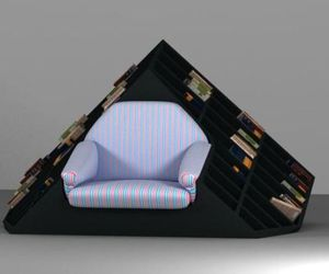 Tatik:  Hybrid armchair and bookshelf