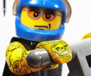 Tattooed LEGOs by PILOT