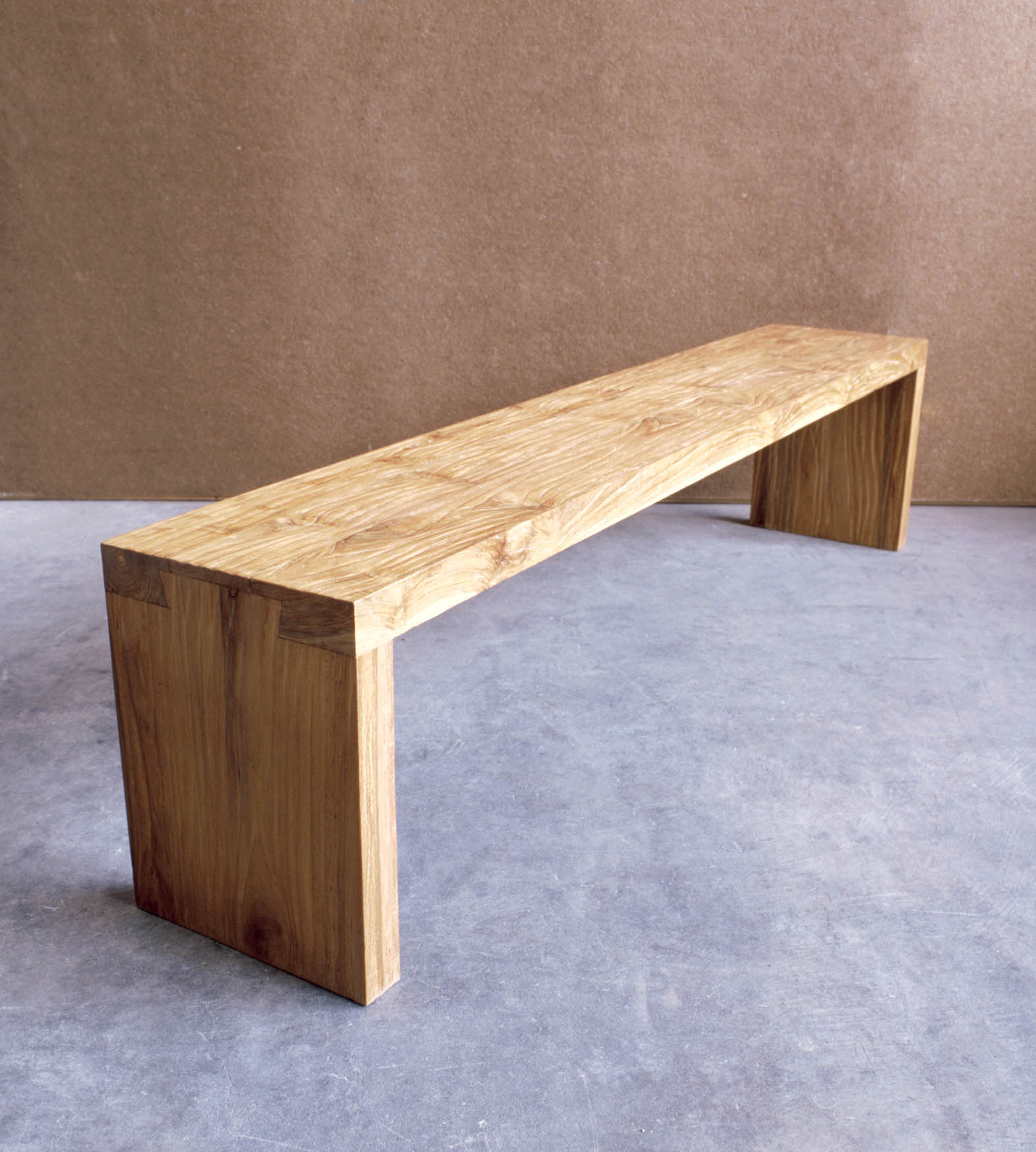 Modern Minimalist Houses Teak Long Bench