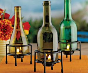 Tealight Holder – Wine Bottle Recycling