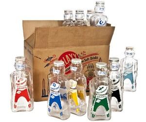 Ten Galaxy Soft Drink Syrup Bottles With Storage Box