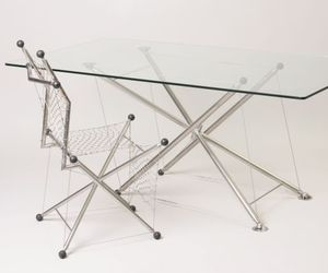 Tensegrity table and chair
