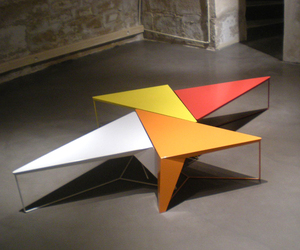 TENSION TABLES by Alain Gilles for Galerie Gosserez  (Paris)