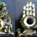 Terraform Stulptures: Plants grow on sculptures!