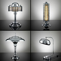 Terry Tynan's Handmade Machine Age Lighting