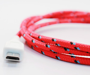 Textile Stripes Micro USB Cables by EasternCollective