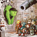 The Avengers x Winnie The Pooh Mashup Illustrations