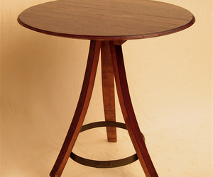 The Bistro round table, recycled French oak wine barrel