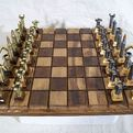 The Caliber .223 Chess set Made From Bullet Shell Casings