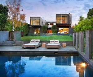 The Contemporary Side of a Victorian House