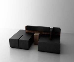 The Cut Sofa: Modular Sofa by Noon Studio