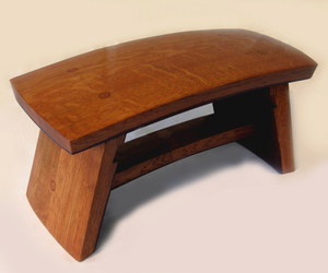 The Dome, recycled oak wine barrel staves footstool