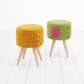 The Dressed-up Stool and Cham Bench by Kamkam