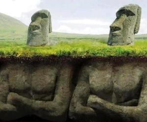 The Easter Island Heads Have Bodies!
