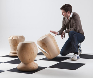 The Game of Chess Stools by Giorgio Bonaguro