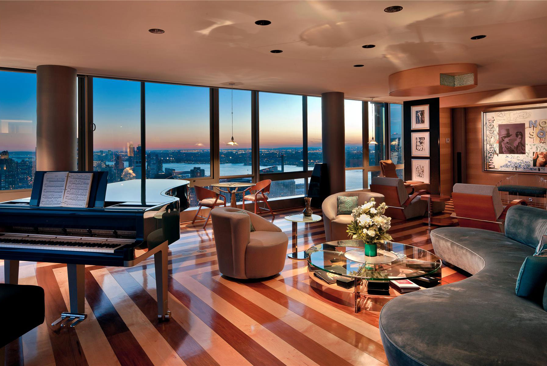 the gartner penthouse for sale in new york city. Black Bedroom Furniture Sets. Home Design Ideas